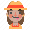 emoji, female, halloween, horror, monster, scarecrow, tongue icon