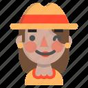 emoji, female, halloween, horror, monster, scarecrow, wink icon