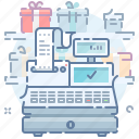 business, cash, finance, machine, money, payment, shopping icon