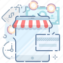 app, card, online, payment, shop, store, tablet