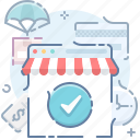 online, shop, store icon
