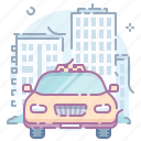 car, city, taxi icon
