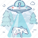 alien, cow icon