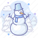 frosty, new year, snowman icon