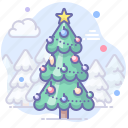 forest, new year, tree, xmas icon