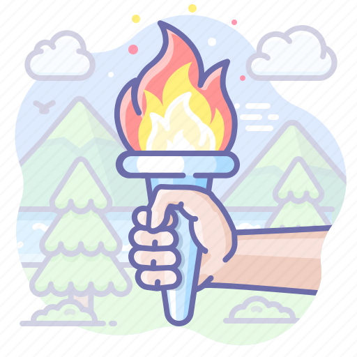Fire, leader, olympic icon - Download on Iconfinder