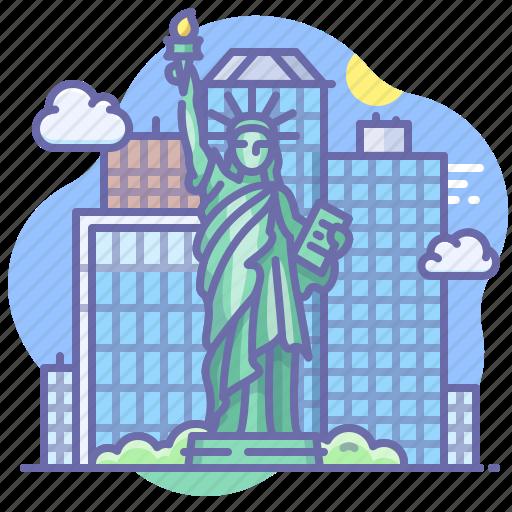 liberty, new york, statue, usa icon