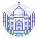 agra, india, mausoleum, taj mahal icon