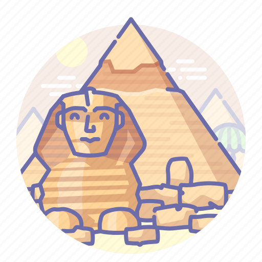 egypt, giza, khafre, pyramid icon