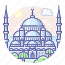 istanbul, mosque, turkey icon