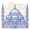 blue, mosque, turkey icon