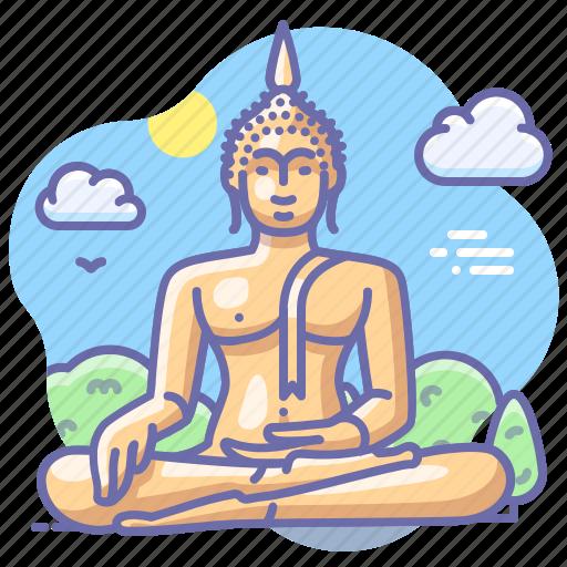 Buddha, thailand, landmark icon - Download on Iconfinder