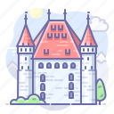 thun, switzerland, castle icon
