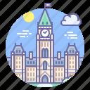 canada, ottawa, parliament icon