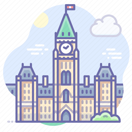 Building, canada, parliament icon - Download on Iconfinder