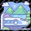 express, railway, train, travel icon