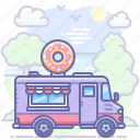 donut, food, sweet, truck icon