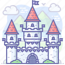 castle, fairy, medieval, tale icon