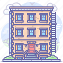 apartment, building, city, urban icon