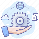 business, documents, process, settings icon