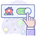 home, on, smart, switch icon
