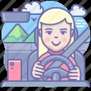 drive, driver, ride, trip