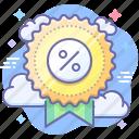 price, badge, discount, sale icon