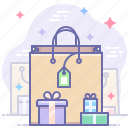 shopping, bag, gifts, sale icon