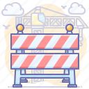 block, construction, road, under icon