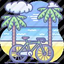 bike, ride, sport, travel icon