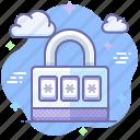 lock, locked, password, secure icon