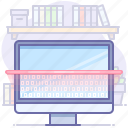 computer, data, scan, search icon