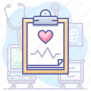 ecg, electrocardiogram, heart, medicine icon