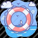 help, lifebuoy, marine, support icon