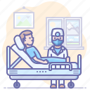 bed, doctor, hospital, patient icon