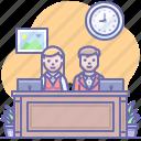 administrator, reception, registration icon