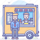 cart, food, stand, truck icon