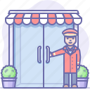 doorman, entrance, hotel, porter icon