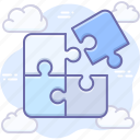 component, plugin, puzzle, jigsaw icon