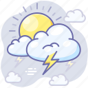 weather, thunder, lightning, clouds icon