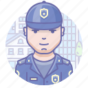 man, police, security icon