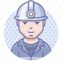 caver, man, miner icon