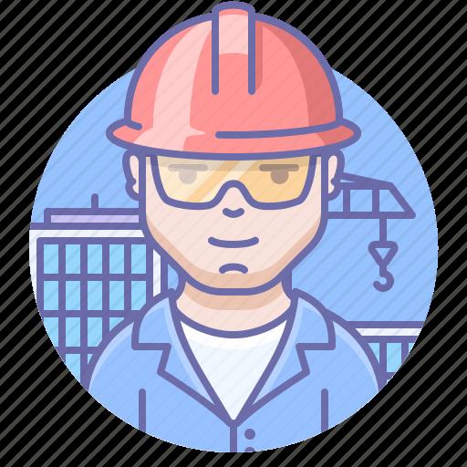 builder, man, worker icon