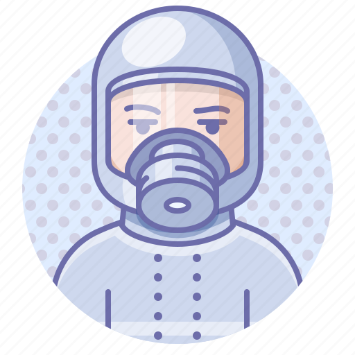 chemical, man, protection icon