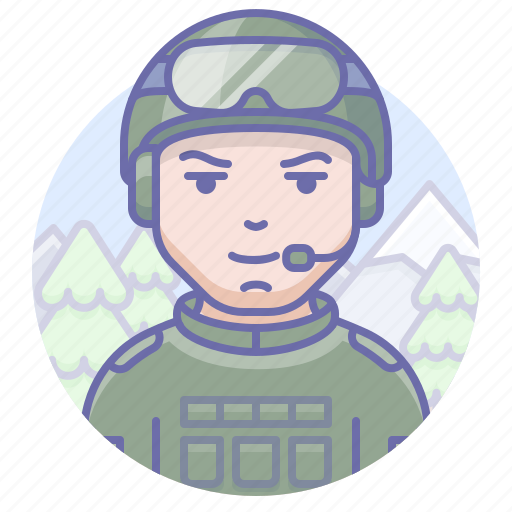 man, military, soldier icon