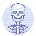 bone, skeleton, skull icon