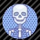 skeleton, skull icon