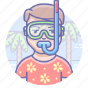 leisure, man, mask icon