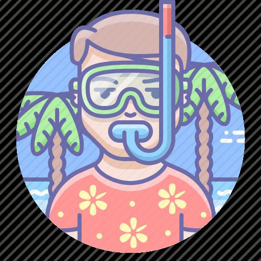 leisure, man, mask icon