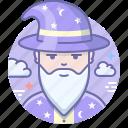 wizard, magician, man